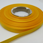 1 roll of 10mm Marigold Dark Yellow Satin Ribbon 25 metres Double Sided