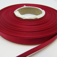 1 roll of 10mm Magenta Dark Pink Satin Ribbon 25 metres Double Sided