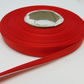 1 roll of 10mm Poppy Bright Red Satin Ribbon 25 metres Double Sided