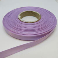 1 roll of 10mm Dark Lilac Purple Satin Ribbon 25 metres Double Sided