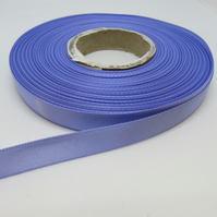 1 roll of 10mm Lavender Purple Satin Ribbon 25 metres Double Sided