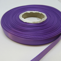 1 roll of 10mm Violet Bright Purple Satin Ribbon 25 metres Double Sided