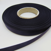1 roll of 10mm Dark Plum Purple Satin Ribbon 25 metres Double Sided