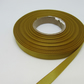 1 roll of 10mm Dark Gold Satin Ribbon 25 metres Double Sided