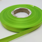1 roll of 10mm Leaf Bright Green Satin Ribbon 25 metres Double Sided