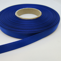 1 roll of 10mm Royal Dark Blue Blue Satin Ribbon 25 metres Double Sided
