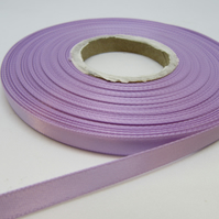 2 metres x 7mm Dark Lilac Satin Ribbon Double Sided