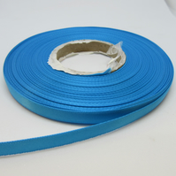 2 metres x 7mm Sky Blue Satin Ribbon Double Sided