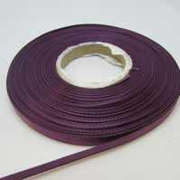 2 metres x 7mm Amethyst Purple Satin Ribbon Double Sided