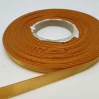 2 metres x 7mm Yellow Gold Satin Ribbon Double Sided