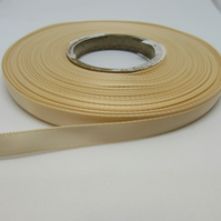 2 metres x 7mm Nude Light Beige Satin Ribbon Double Sided