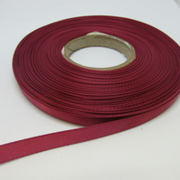 2 metres x 7mm Victorain Mulberry Rose Pink Satin Ribbon Double Sided