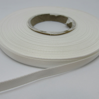2 metres x 7mm White Ribbon Double Sided
