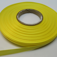 2 metres x 7mm Canary Bright Yellow Ribbon Double Sided