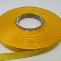2 metres x 7mm Marigold Dark Yellow Ribbon Double Sided