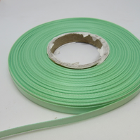 2 metres x 7mm Dark MInt Green Satin Ribbon Double Sided