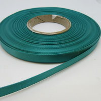 2 metres x 7mm Jade Green Ribbon Double Sided