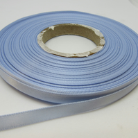 2 metres x 7mm light powder blue Ribbon Double Sided