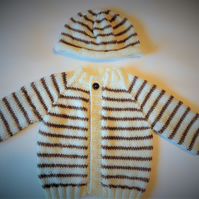Baby Jacket and Beanie Set