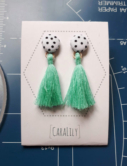 Pin Dot Print Honolulu Earrings