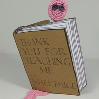 Bookworm Bookmark Card