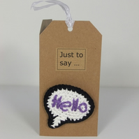 "Just to say ... ""Hello"" Pin"