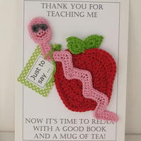 Bookmark and Coaster Teacher Card