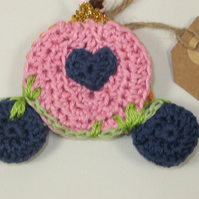 Crochet Cinderella's Pumpkin and Carriage Tree Decoration
