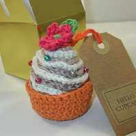 Sweet Mini Cupcake Pincushion