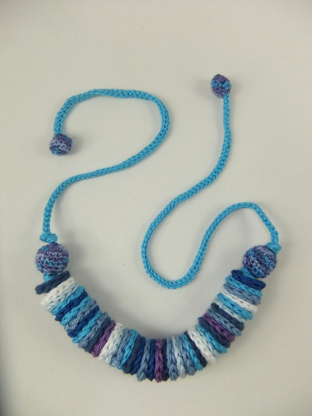 Crochet necklace - 'Summer sky'