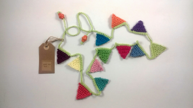 Colourful Crochet Mini Bunting