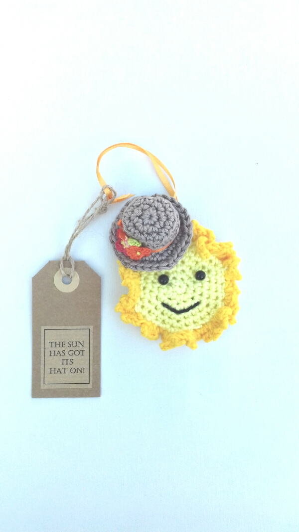 The Sun Has Got Its Hat On! Crochet Keepsake