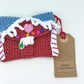 Crochet Gingerbread House Gift Card Wallet
