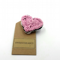 Crochet Sweetheart Brooch