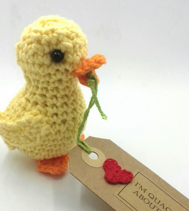 Crochet Duckling -I'm  Quackers About You!