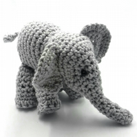 Crochet Grey Elephant