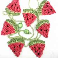 Crochet Watermelon Mini Bunting