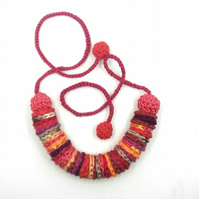 Crochet Necklace -'Autumn '