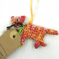 Little Kitty Crochet Tree Decoration with Tag