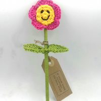 Crochet Flower - Alternative to a Greetings Card