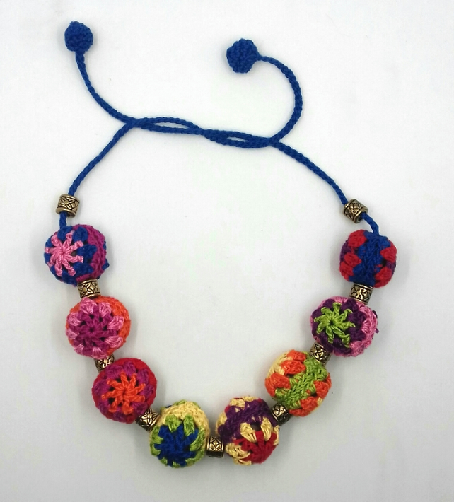 Crochet Granny Bead Necklace