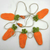 Crochet Carrot Garland
