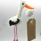 Crochet Stork with Baby Bundle