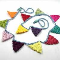 Crochet Mini Bunting  - Colours of Summer