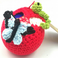 Crochet Apple . Thank You Teacher