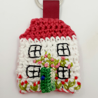 Crochet Cottage Key Ring. New Home