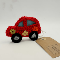 Flower Power Crochet Car