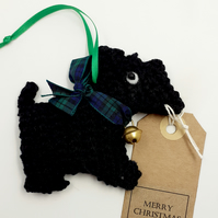 Crochet Scottie with Smart Collar