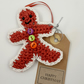Crochet Gingerbread Man Tree Decoration
