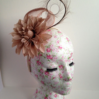 Latter Sinamay and Feather Fascinator